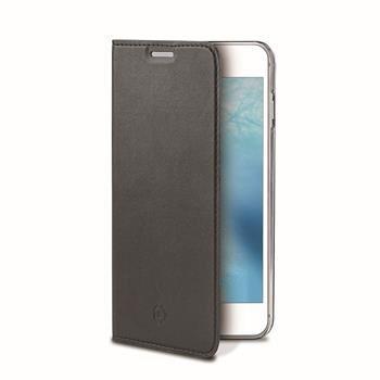 Ultra tenké pouzdro typu kniha CELLY Air pro Apple iPhone 7, PU kůže, černé