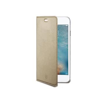 Ultra tenké pouzdro typu kniha CELLY Air pro Apple iPhone 7, PU kůže, zlaté