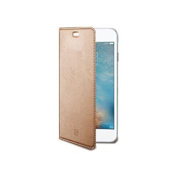 Ultra tenké pouzdro typu kniha CELLY Air pro Apple iPhone 7, PU kůže, růžovozlaté