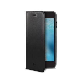 Pouzdro typu kniha CELLY Air Pelle pro Apple iPhone 7, pravá kůže, černé