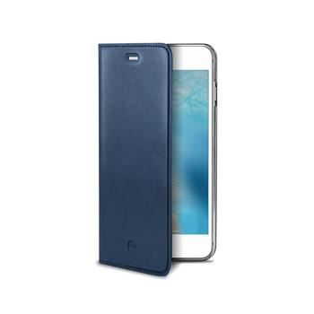 Pouzdro typu kniha CELLY Air Pelle pro Apple iPhone 7, pravá kůže, modré