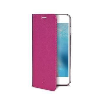 Pouzdro typu kniha CELLY Air Pelle pro Apple iPhone 7, pravá kůže, růžové