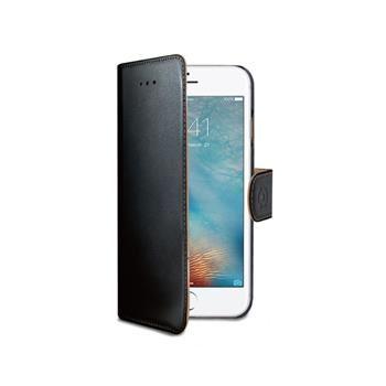 Pouzdro typu kniha CELLY Wally pro Apple iPhone 7, PU kůže, černé