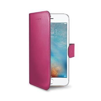 Pouzdro typu kniha CELLY Wally pro Apple iPhone 7, PU kůže, růžové