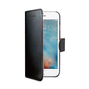 Pouzdro typu kniha CELLY Wally pro Apple iPhone 7 Plus, PU kůže, černé