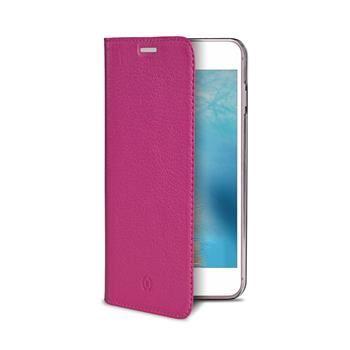 Pouzdro typu kniha CELLY Air Pelle pro Apple iPhone 7 Plus, pravá kůže, růžové