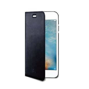 Ultra tenké pouzdro typu kniha CELLY Air pro Apple iPhone 7 Plus, PU kůže, černé
