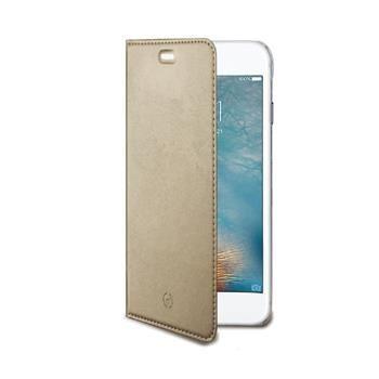 Ultra tenké pouzdro typu kniha CELLY Air pro Apple iPhone 7 Plus, PU kůže, zlaté