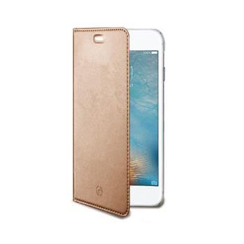 Ultra tenké pouzdro typu kniha CELLY Air pro Apple iPhone 7 Plus, PU kůže, růžovozlaté