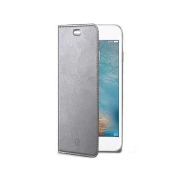 Ultra tenké pouzdro typu kniha CELLY Air pro Apple iPhone 7 Plus, PU kůže, stříbrné