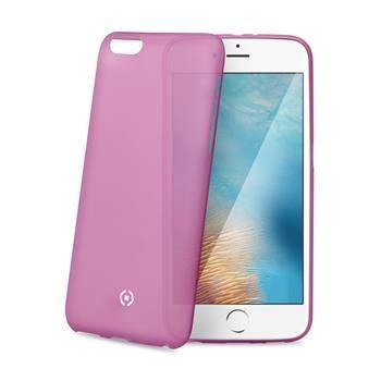 Ultra tenké TPU pouzdro CELLY Frost pro Apple iPhone 7 Plus, 0,29 mm, růžové