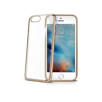 TPU pouzdro CELLY Laser - lemování s kovovým efektem pro iPhone 7, zlaté