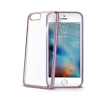 TPU pouzdro CELLY Laser - lemování s kovovým efektem pro iPhone 7 Plus, růžovozlaté