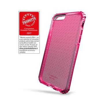 Ultra ochranné pouzdro Cellularline TETRA FORCE CASE pro Apple iPhone 7, 2 stupně ochrany, růžové