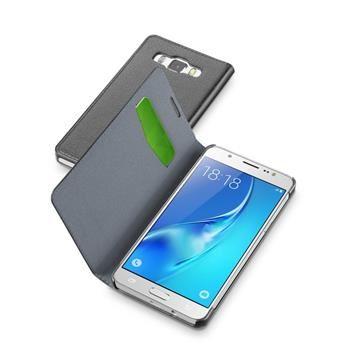 Pouzdro typu kniha CellularLine Book Essential pro Samsung Galaxy J5 (2016), černé