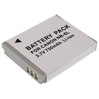 Baterie Extreme Energy typ Canon NB-6L, Li-Ion 1000 mAh, šedá