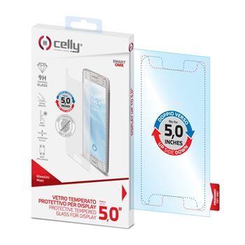 """Univerzální ochranné tvrzené sklo CELLY Glass pro telefony do 5"""", matné"""