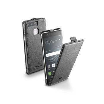 Pouzdro CellularLine Flap Essential pro Huawei P9, PU kůže, černé