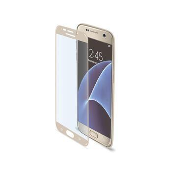 Ochranné tvrzené sklo CELLY Glass pro Samsung Galaxy S7, zlaté