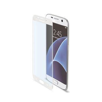 Ochranné tvrzené sklo CELLY Glass pro Samsung Galaxy S7, bílé