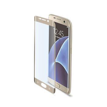 Ochranné tvrzené sklo CELLY Glass pro Samsung Galaxy S7 Edge, zlaté
