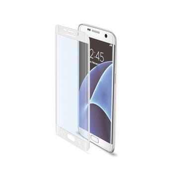 Ochranné tvrzené sklo CELLY Glass pro Samsung Galaxy S7 Edge, bílé