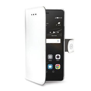 Pouzdro typu kniha CELLY Wally pro Huawei P9 Lite, PU kůže, bílé