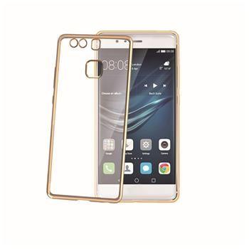 TPU pouzdro CELLY Laser - lemování s kovovým efektem pro Huawei P9, zlaté