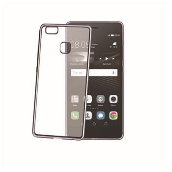 TPU pouzdro CELLY Laser - lemování s kovovým efektem pro Huawei P9 Lite, černé