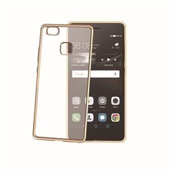 TPU pouzdro CELLY Laser - lemování s kovovým efektem pro Huawei P9 Lite, zlaté