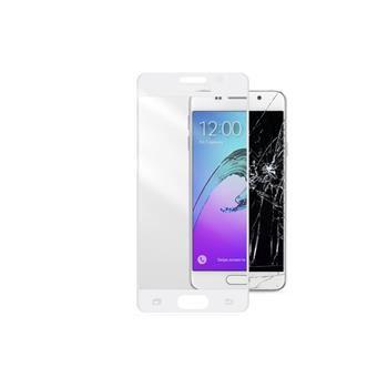 Ochranné tvrzené sklo pro celý displej CellularLine CAPSULE pro Samsung Galaxy A3 (2016), bílé