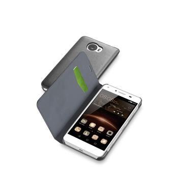 Pouzdro typu kniha CellularLine Book Essential pro Huawei Y5 Pro/Y5 II, černé