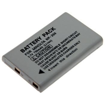 Baterie Extreme Energy typ Minolta NP-200, Li-Ion 750 mAh, šedá
