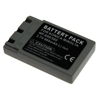 Baterie Extreme Energy typ Minolta NP-500/600, Li-Ion 1200 mAh, šedá