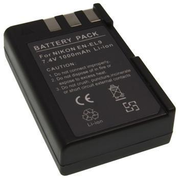Baterie Extreme Energy typ Nikon EN-EL9, 1200 mAh, Li-Ion, černá