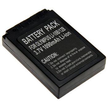 Baterie Extreme Energy typ Olympus Li-10B/12B, Li-Ion 1400 mAh, černá