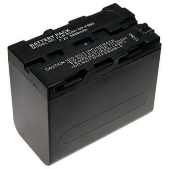 Baterie Extreme Energy typ Sony NP-F960, Li-Ion 6600 mAh, šedá