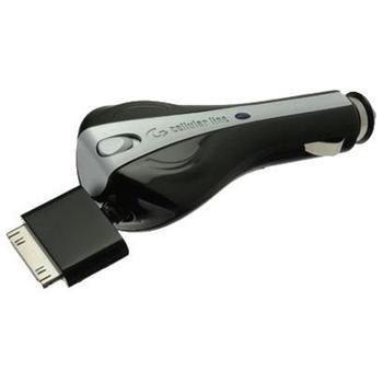 Autonabíječka CellularLine s navíjecím kabelem pro Apple iPhone 3GS/ 4s/ iPod, 1A černá