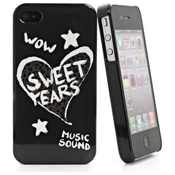 Zadní kryt Sweet Years pro iPhone 4/4S, černý + fólie na displej