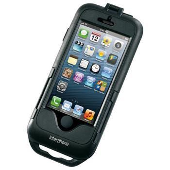 Voděodolné pouzdro Interphone pro Apple iPhone 5/5S/SE, úchyt na řídítka, černé