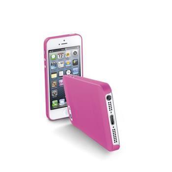 Ultratenký zadní kryt CellularLine 035 pro Apple iPhone 5/5S/SE, růžový + fólie