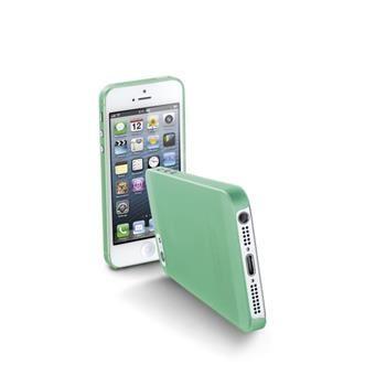 Ultratenký zadní kryt CellularLine 035 pro Apple iPhone 5/5S/SE, zelený + fólie