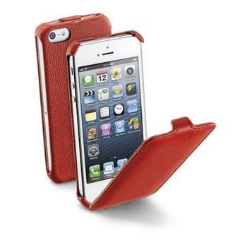 Pouzdro flap CellularLine FLAP pro Apple iPhone 5/5S/SE, PU kůže, červené