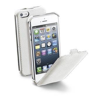 Pouzdro flap CellularLine FLAP pro Apple iPhone 5/5S/SE, PU kůže, bílé