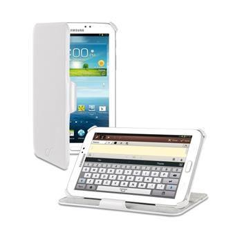 Kožené pouzdro typu kniha CellularLine pro Samsung Galaxy TAB 3 7.0, bílé