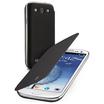 Pouzdro typu kniha CellularLine Backbook pro Samsung Galaxy S III / S3 Neo, černé