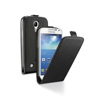Pouzdro CellularLine Flap Essential pro Samsung Galaxy S4 Mini, PU kůže, černé