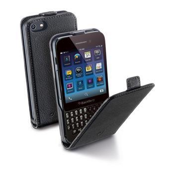 Pouzdro CellularLine Flap Essential pro BlackBerry Q5, PU kůže, černé