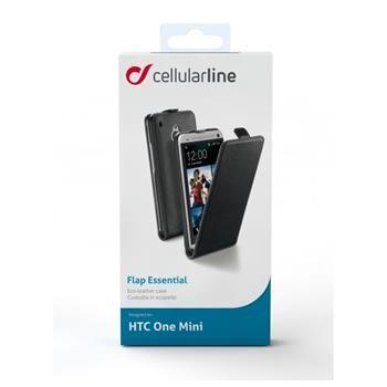 Pouzdro CellularLine Flap Essential pro HTC One Mini, PU kůže, černé