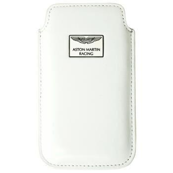 Kožené pouzdro Aston Martin Racing Chic, velikost ML, bílé